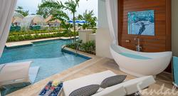 65% Off Rack Rate: Royal Seaside Crystal Lagoon Swim-up One Bedroom Butler Suite w/ Patio Tranquility Soaking Tub