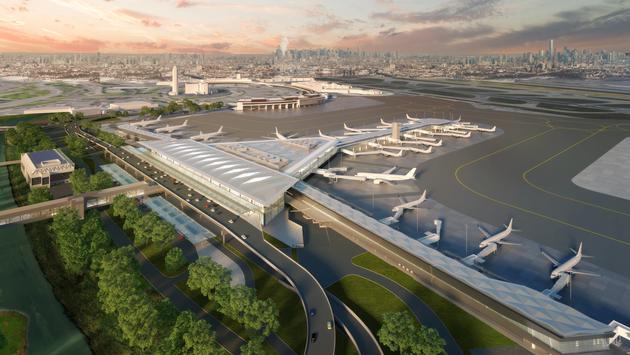 Delta, airport, LaGuardia