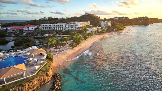 Aerial view of the Royalton Grenada Resort.