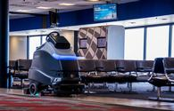 Self-driving floor scrubbers at Pittsburgh International Airport
