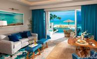 Beachfront Swim-up Millionaire One Bedroom Butler Suite w/ Patio Tranquility Soaking Tub