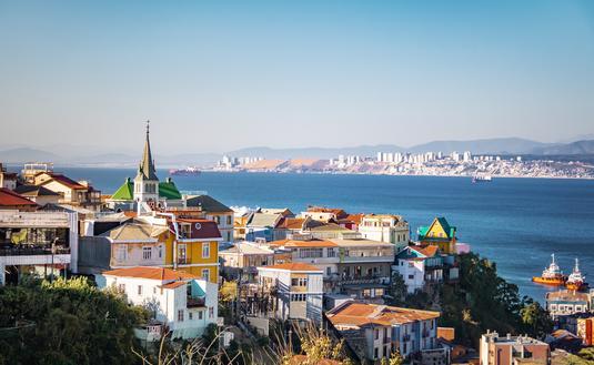 Chile, Valparaiso, port, sea, architecture