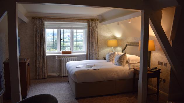 L'une des chambres du Bovey Castle