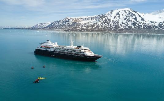 Silver Cloud, Monacobreen Arctic, Svalbard, Norway, ship, kayaking, landscape