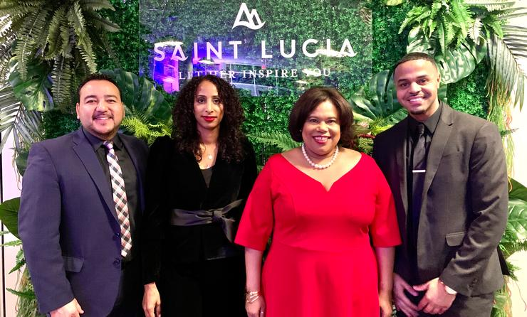 LtoR: Rod Hanna (Director of Sales - Canada), Jenelle Ernest, Beverly Nicholsn Doty (CEO) and Andrew Ricketts of SLTA