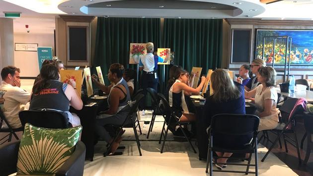 Atelier de peinture offert sur le Bliss de NCL