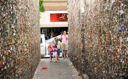 Bubblegum Alley in San Luis Obispo, California