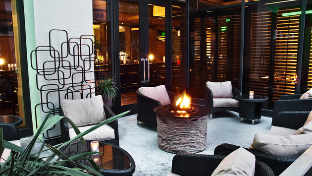 Outdoor Fire Pit at The Westin LAX