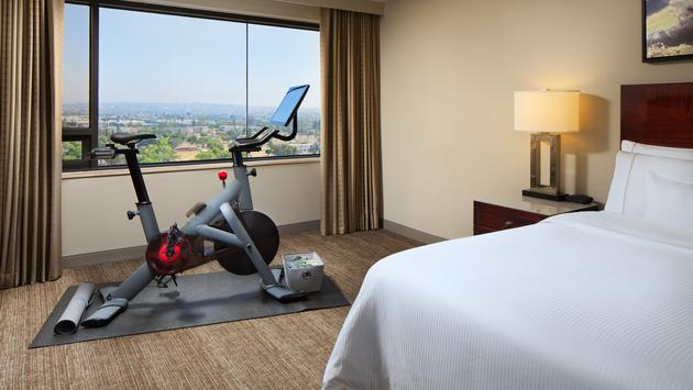 Peloton Guest Room at The Westin LAX