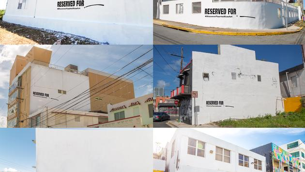 Puerto Rico Blank Canvas initiative wall spaces