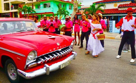 Dancing in the streets in Varadero.