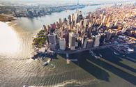 Aerial view of lower Manhattan, New York City