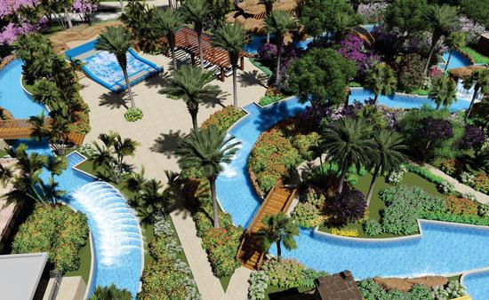 Planet Hollywood Beach Resort Cancun's lazy river