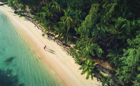 Aerial view of a beach in Punta Cana, Dominican Republic