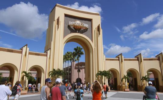 Entrance to Universal Studios Florida theme park.