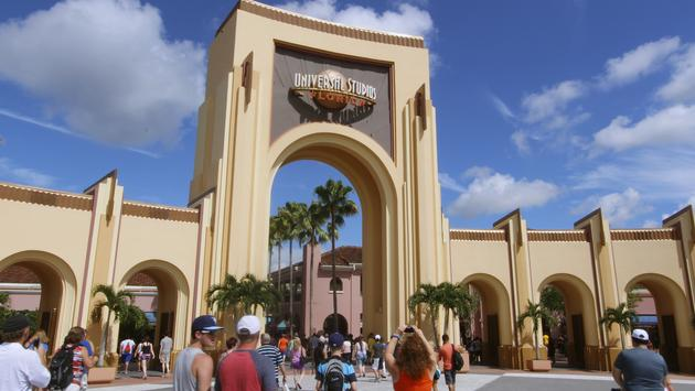 Entrance to Universal Studios Florida theme park.