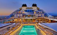 Seabourn Encore, Seabourn, cruise ship, pool deck, pools