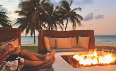 fire pit beach Hyatt Ziva Rose Hall Jamaica