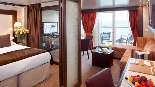 Seabourn, cruise ship, room, suite, penthouse