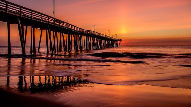 Sunrise Greets the Virginia Beach Fishing Pier