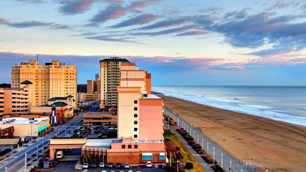 Virginia Beach boardwalk and oceanfront