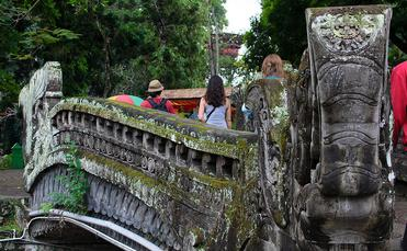 Carved bridge in Bali, Indonesia's capital of Denpasar
