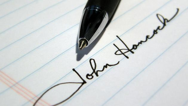 John Hancock written signature