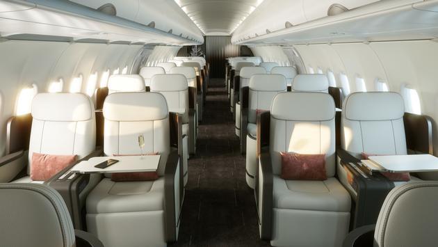 Le jet privé de Four Seasons accommodera 48 clients