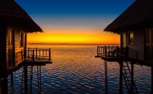 Huvafen Fushi Sunset, the Maldives