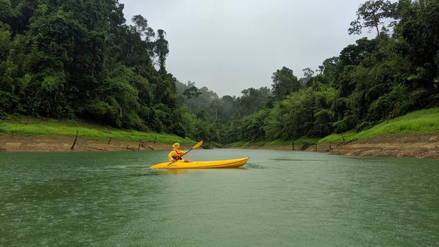 Thailand, Cheow Lan Lake, kayaking, rain