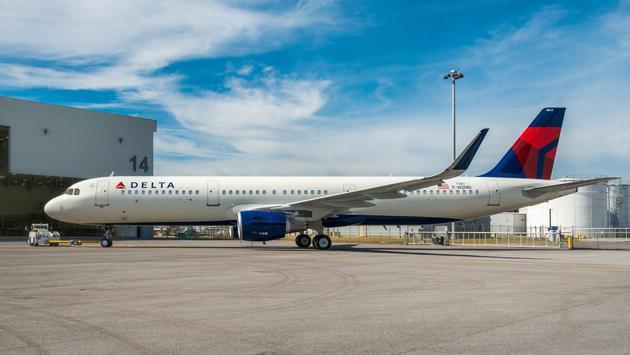 Delta, A321, airplane, plane, airport