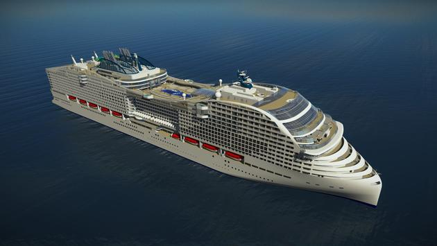 Rendering of the MSC Europa