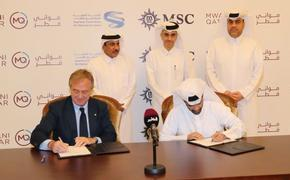 MSC Cruises Executive Chairman Pierfrancesco Vago signs an agreement with Qatar's Supreme Committee for Delivery & Legacy