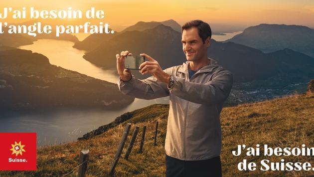 Roger Federer fait équipe avec Suisse Tourisme