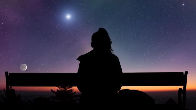 Girl watching the stars