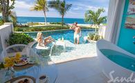 65% Off Rack Rate: Oceanfront Swim-up Butler Suite w/ Patio Tranquility Soaking Tub