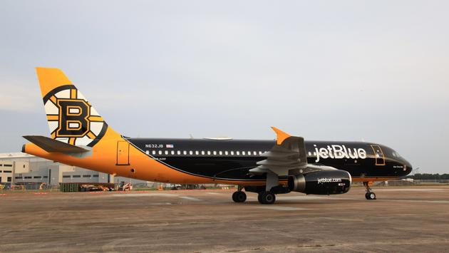 'Bear Force One' is JetBlue's first livery dedicated to a team in the NHL