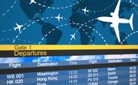 Airline departures schedule.