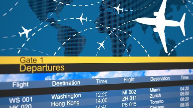 Airline departures schedule.