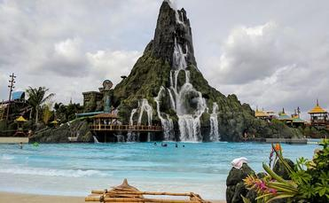 The 200-foot volcano at Universal's water theme park, Volcano Bay