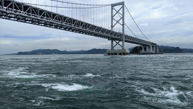Naruto Whirlpools, bridge, Japan, Shikoku