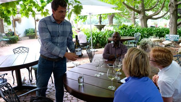Herman Koegelenberg at Moreson Wines, South Africa