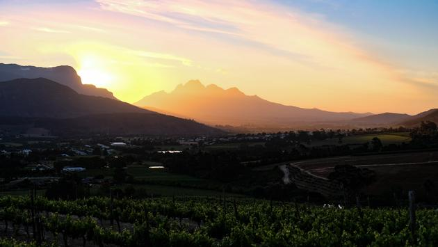 Franschhoek, South Africa Sunset