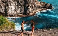 A couple enjoying Bali, Indonesia