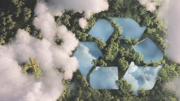 Eco-friendly waste management concept.