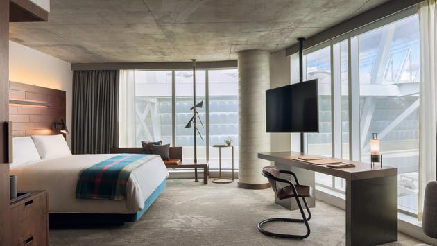 El DOUGLAS es un hotel con estilo único que forma parte del complejo de Parq Vancouver.