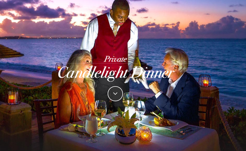 Sandals Private Candlelight Dinner