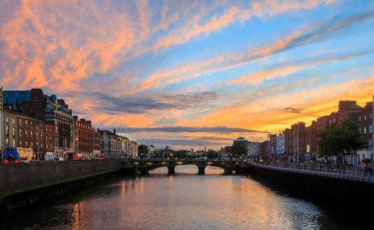 A beautiful scene in Dublin, Ireland