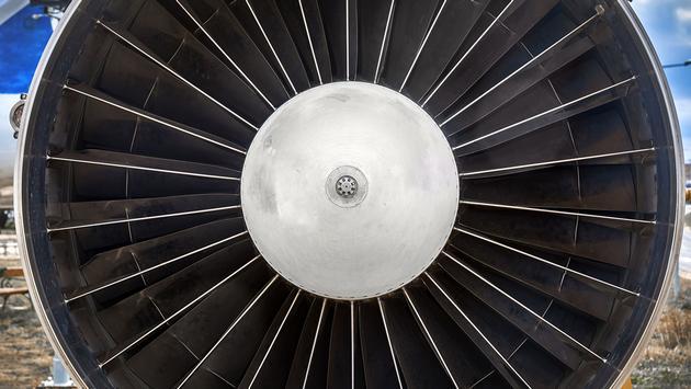 Jet engine close up