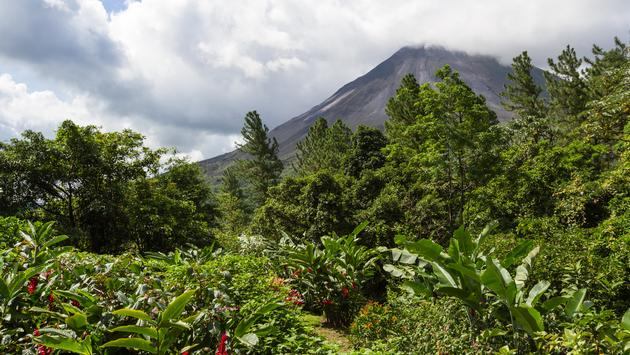 Mt. Arenal is Costa Rica's most active volcano.